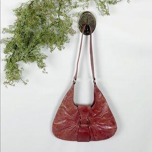Latico Mauve Pink Leather Satchel Purse 🌿